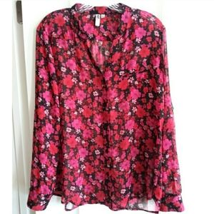 Kut from the Kloth Floral Blouse!